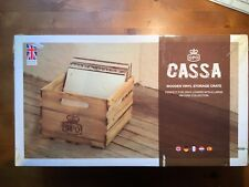 "GPO CASSA Wooden Storage Crate for Storing up to 100 12"" Records - Wooden Finish"