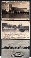 105807 3 AK Friedrichshafen Bodensee Hafen 1901 Schloss Seehof Sanatorium 1909 H