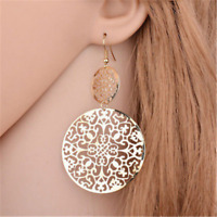 HOT Bohemian Big Round Hollow Earrings Women Jewelry Long Dangle Earrings Gift