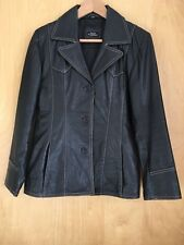 Ladies HUSH PUPPIES Leather Jacket Size 36