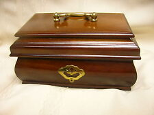 """1993 Music Jewelry Box Bombay Company  """"LookingThrough the Eyes of Love"""" Wood"""