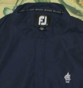 FOOTJOY Blue Pullover Light Weight Golf Jacket Atlanta Athletic Club XL