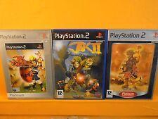 ps2 JAK & And DAXTER x3 TRILOGY Games Jak II 2 + 3 + Precursor Legacy PAL UK