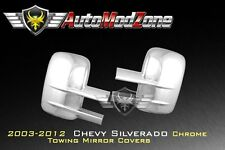 03-15 Chevy Silverado Chrome Towing Mirror Covers Cover Set