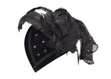 Black Raven Carnaval Estilo Lágrima Fascinator Riding Sombrero De Pirata