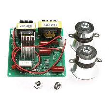 220V AC Power Driver Board + 2PCS 50W 40KHz Ultrasonic Transducer Cleaner New