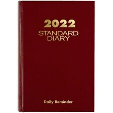 At A Glance Standard Daily Diary 5 34 X 8 14 Red 2022 Sd38913 Appt