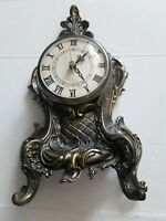 GORGEOUS RARE ANTIQUE FRENCH BRONZE TABLE/MANTLE CLOCK 19TH CENTURY
