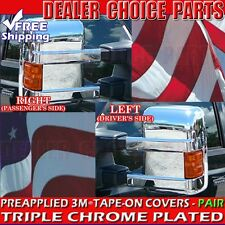12008-2016 FORD SUPERDUTY Chrome Mirror COVERS Overlays TOWING W/Turn Signal HL
