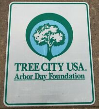 Authentic Retired Michigan Road Sign - TREE CITY USA - ARBOR DAY FOUNDATION