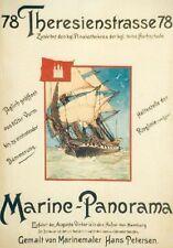 Original Plakat - Marine-Panorama - Hamburg