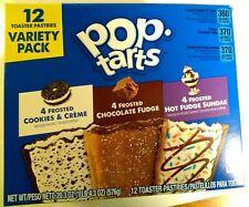 Pop Tarts Pastries Variety Pk Cookies & Cream/Fudge/Hot Fudge Sunday 12 ct