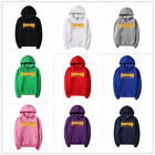 Thrasher men and women with the flame fleece hoodies couple tops clothing c