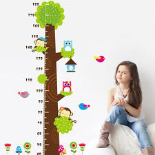 Baby Kid Growth Height Chart Wall Sticker Cute Cartoon Home Nursery Class Decor