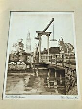 original early 1900s etching from e.c. ashworth ( near amsterdam )