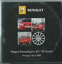Renault Megane Renault sport dCi 175 Launch 2007 Press Pack Press Kit CD Rom