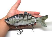 "8"" Multi-jointed Bass Pike Muskie Fishing Bait Swimbait Lure Life-like Striper"