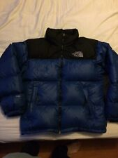Vintage The North Face Nuptse 700 Down Puffer Jacket Sz M Blue
