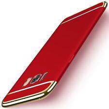Handy Hülle Schutz Case für Samsung Galaxy S8 Bumper 3 in 1 Cover Chrom Etui Rot