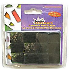 Cathedral Glass Chips - Mosaic Tiles - Dark Green - 5oz (142g)