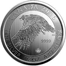 2016 Canadian Snow Falcon, 1.5 Ounce .9999 Silver Coin, 1 Bright Flashy Coin!