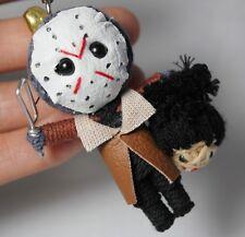 JASON MASK String Voodoo Keychain Keyring Doll Horror Handmade Handcraft Toy New