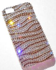 GOLD ZEBRA Crystal Bling Back Case for iPhone 5 5S made with Swarovski Elements
