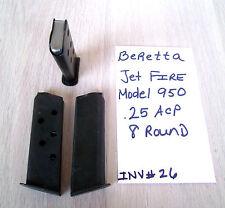 1 BERETTA JETFIRE 950 .25ACP MAG MAGAZINE 8 ROUND .25 ACP (INV#26)
