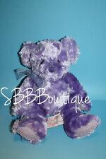 "Russ Purple Teddy Bear 9"" Girl Power GROOVY GUAVA Soft No Scent Bow Stuffed Toy"