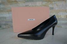 MIU MIU PRADA Gr 36,5 Pumps Shoes scarpe schwarz black Gummisohle neu UVP 430 €