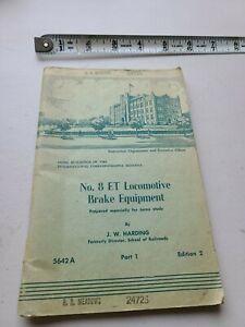 No 8 ET Locomotive Brake Equipment by JW Harding 1950