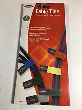 Multicolored Cable Ties, 6/Pack (c)