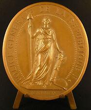 Médaille Police Générale de la République à Mr Jean Druesne 82 mm national medal