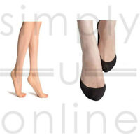 4-7 10 x Pairs Ladies 20 DENIER Sheer Ankle Socks x2 plain x2 bamboo ONE SIZE