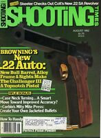 SHOOTING TIMES Magazine August 1982 Browning's New .22 Auto
