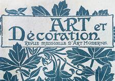 1908 - ART ET DÉCORATION - FÉVRIER - GEORGES HOENTSCHEL HENRI RIVIÈRE