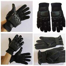 guantes tacticos airsoft Negros con protecciones paintball, militar, SWAT Nuevos