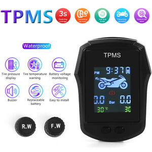 Waterproof Motorcycle TPMS External Sensor Bike Tire Pressure Monitoring System