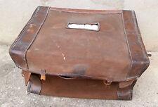 Ancien sac en tissu et cuir valise militaire housse french suitcase militaria