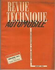 (35B)REVUE TECHNIQUE AUTOMOBILE MERCEDES 170S / TRACTEUR DAVID BROWN