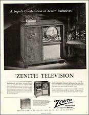 1949 vintage television Ad Zenith Gotham Round Screen Tv Radio Phonograph 040920