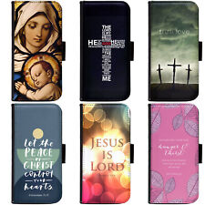 JESUS CHRISTIAN CROSS BIBLE VERSE Phone Wallet Flip Case Cover for Motorola