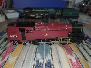 Hornby Dublo / EDL18 BR 2-6-4 Class 4MT Std. Tank Loco 80135 3 rail Midland Red