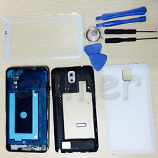 Housing Case + Screen Glass + Tool For Samsung Galaxy Note 3 4G LTE N9005 White