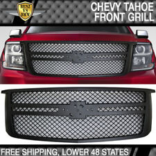 Fits 15-16 Chevy Tahoe B Style  Front Bumper Hood Grille Grill Moulding - ABS