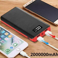 Portable Power Bank 2000000mAh LED External Battery Fast Charger Pack Case New