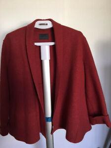 Oska Womens Jacket Coat Red / Rust - Boiled Wool - size 14 (II)