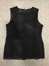 Alfani Lady black sleeveless top NWOT size L 12/14 (a1)