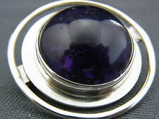 schöne alte Brosche Silber 835/- Amethyst ca.50er Jahre RLS 316