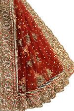 Vintage Indian Heavy Dupatta Embroidered Stole Wedding Woman Scarf Nikkah Hijab